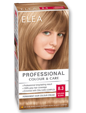 Боя за коса Elea Professional colour&care № 8/3 Златно рус