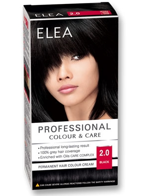 Боя за коса Elea Professional colour&care № 2/0 Черен