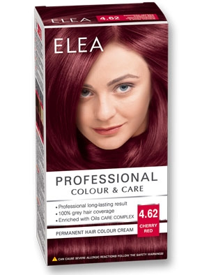 Боя за коса Elea Professional colour&care № 4/62 Вишнево червен