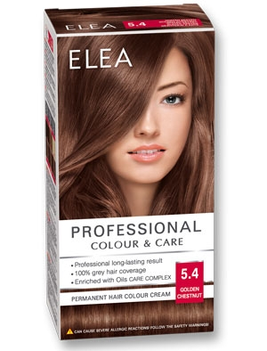 Боя за коса Elea Professional colour&care № 5/4 Златен кестен