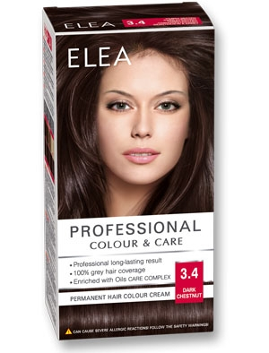 Боя за коса Elea Professional colour&care № 3/4 Тъмен кестен