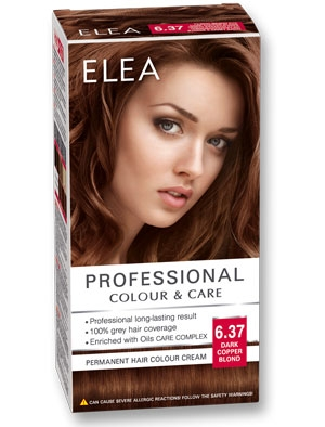 Боя за коса Elea Professional colour&care № 6/37 Тъмно медно рус