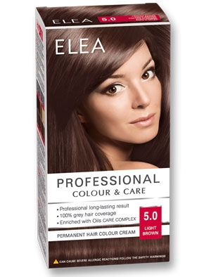 Боя за коса Elea Professional colour&care № 5/0 Светло кафяв