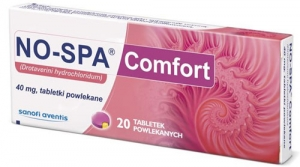 Но-шпа Комфорт, No-spa Comfort 40mg 2x12 таблетки