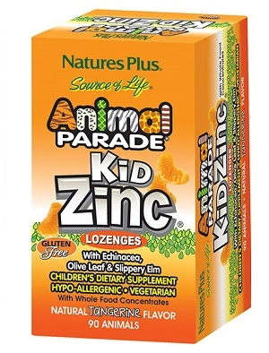 Анимал парад KidZinc Комплекс с Цинк, Animal Parade KidZinc Lozenges 90 таблетки