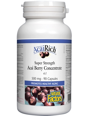 Акай концентрат, Acai Berry Concentrate 500 мг 90 капсули