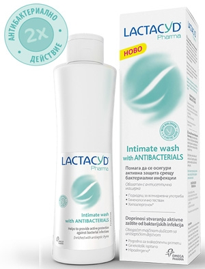 Лактацид, Lactacyd Pharma with Antibacterials интимен лосион 250ml