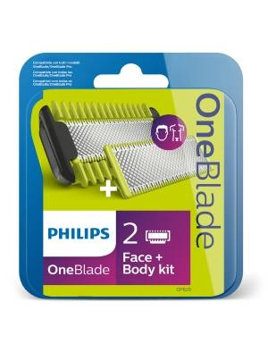 Philips One Blade Резервни ножчета Face&Body QP620 2 бр