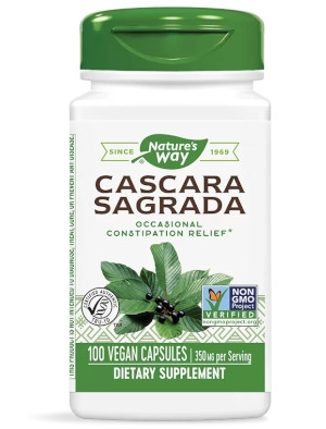 Зърнастец (кора), Cascara Sagrada 350 мг х 100 капсули Nature's Way