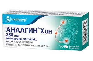 Аналгин Хин, Analgin Chin 250 mg 10 таблетки