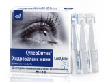 СуперОптик Хидробаланс мини, Superoptic Hydrobalance mini капки за очи 12 дози